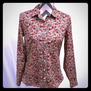J. Crew Perfect Floral Button Down Shirt Size 8